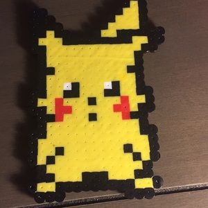 Pikachu perler beads